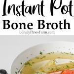 If you have an Instant Pot, you should try making your own bone broth! It's so easy to do! Use your leftover chicken, turkey, pork, beef, or even fish bones to whip up a delicious batch of bone broth today. It's full of nutrients & has incredible gut-healing properties.