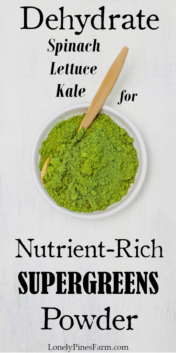 Why would someone dehydrate lettuce, spinach, or kale?? I know - it sounds odd - but hear me out! The end result is a magic powder full of vitamins & minerals. It helps you reach your daily vegetable intake by giving every dish a nutritional boost. Replace those store-bought green powders with this homemade version for a fraction of the cost!