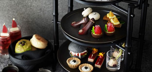 Theres black afternoon tea and cocktails at Japans Black Bar