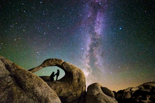Canon EOS 6D Milky Way from Alabama Hills Mobius Arch