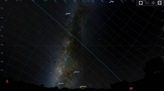 Astrophotography Declination Example