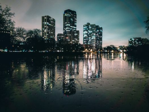 North Pond, Lincoln Park, Chicago. Elm and State, Chicago. LG V30. 8s, f/1.6, ISO 50