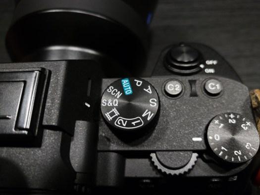 Sony a7III mode dial
