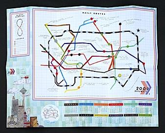 Calendario mappa del 2009 di Lart C. Berliner
