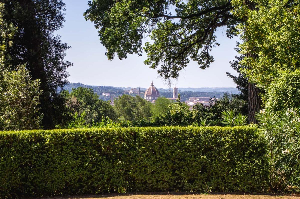Villa La Pietra, la vista su Firenze, dove si distingue la cupola del Duomo (Foto: Caterina Chimenti / Lonely Traveller)