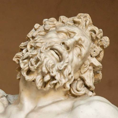 Particolare del Laooconte, dall'omonimo gruppo scultoreo conservato nei Musei Vaticani. Si tratta di una copia romana di un originale di epoca ellenistica. Sappiamo con certezza che Michelangelo si trovava a Roma quando la scultura fu ritrovata. (Foto originale)