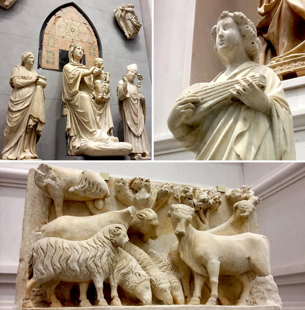 Opera Duomo statue vecchia facciata