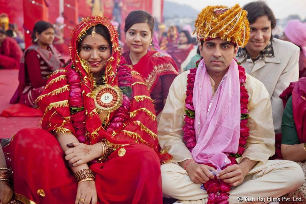 Un fotogramma di Dum Laga Ke Haisha - My big fat bride del regista Sharat Katariya sui matrimoni combinati