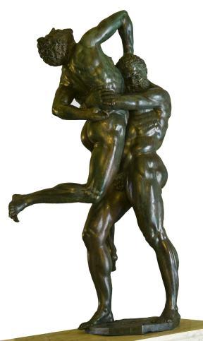 Bartolomeo Ammannati Ercole e Anteo, bronzo, cm 200 x 112 x 65. Firenze, Villa medicea di Castello
