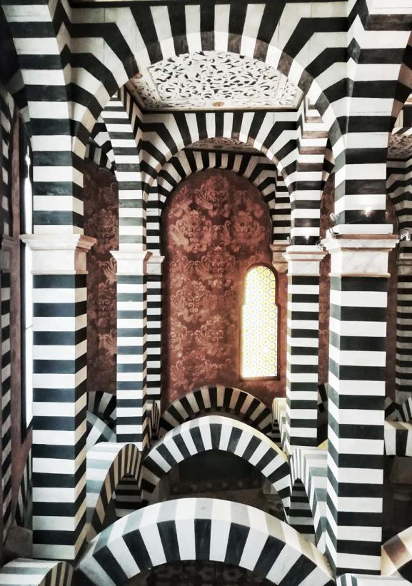 Rocchetta Mattei, vista dal piano superiore della cappella Foto: Caterina Chimenti / Lonely Traveller