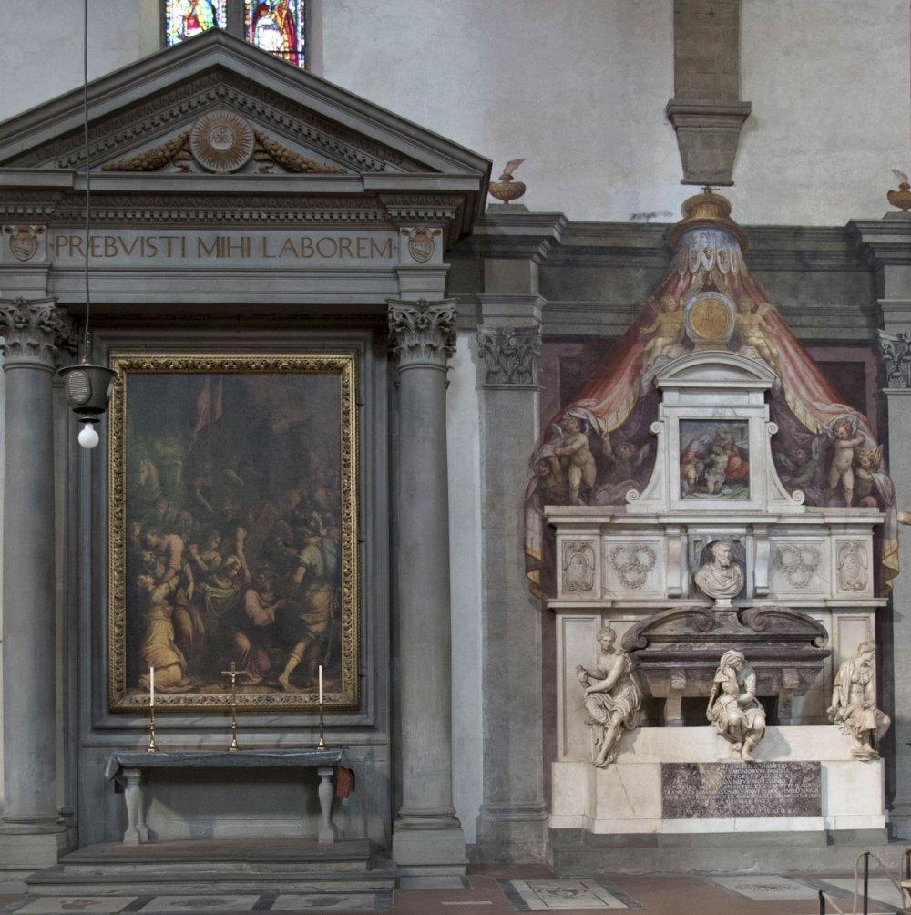 Tomba di Michelangelo e altare della famiglia Buonarroti in Santa Croce