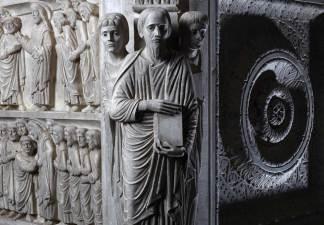 Guido da Como, pulpito (particolare), San Bartolomeo in Pantano, Pistoia [Foto: Nicolò Begliomini courtesy of Giorgio Tesi Editrice]