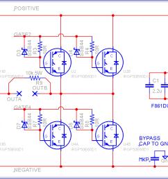 schematic for my new 8 igbt bridge layout [ 1762 x 780 Pixel ]
