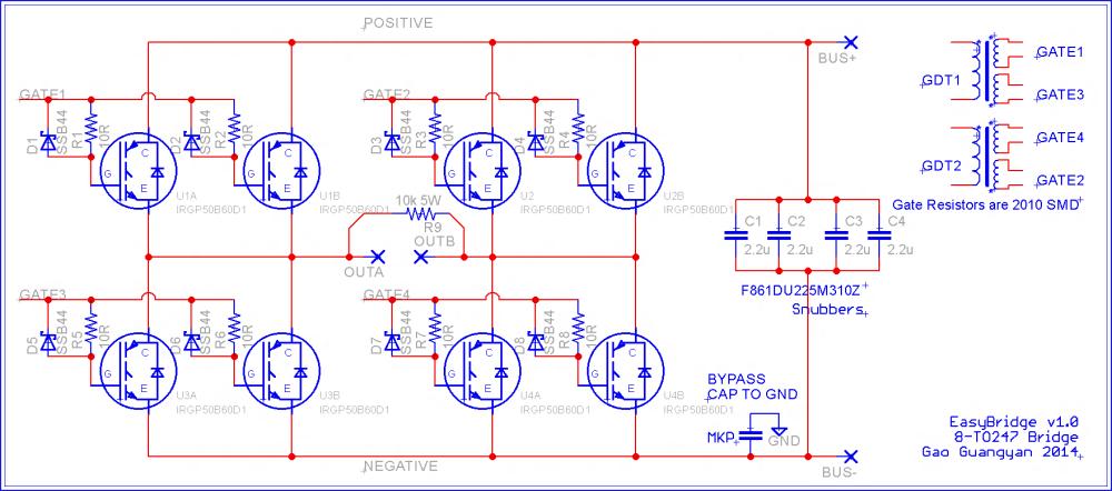 medium resolution of schematic for my new 8 igbt bridge layout