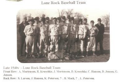 Late 1940s - Lone Rock Baseball Team