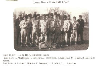 Late 1940s - Lone Rock Baseball Team