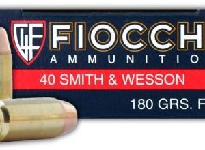 Fiocchi .40 S&W 180gr FMJ – 50rd Box