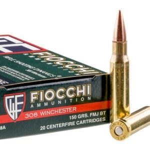 Fiocchi .308 Win 150gr FMJ – 20 Round Box