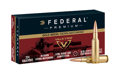 Federal 224 Valkyrie 90gr Gold Medal Sierra MatchKing