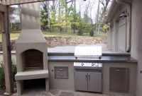 Stucco Outdoor Kitchen Design
