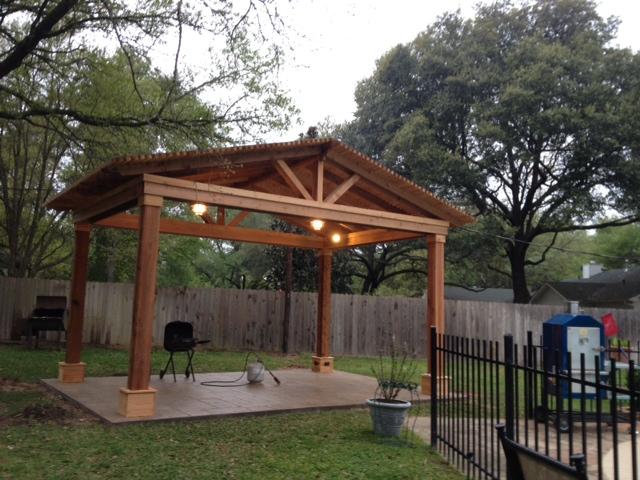 Covered Pergolas in Katy Magnolia Cypress Tomball  Houston