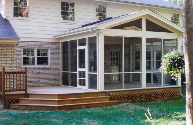 Screened in Patio Built On A Deck in Houston TX  Lone