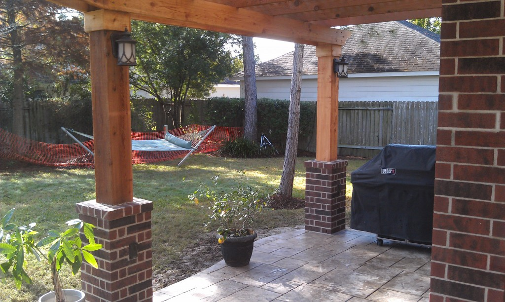 Cedar Pergola in Spring TX  Lone Star Patio Builders