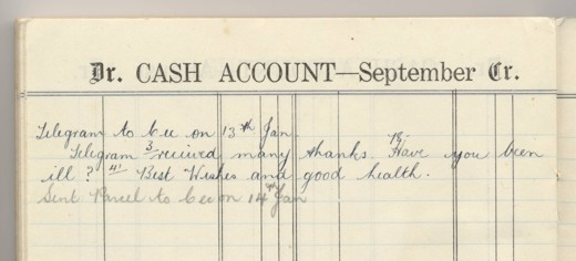 cables noted in the 1943 diary