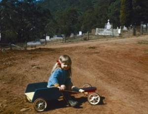 me on my brother's go-kart
