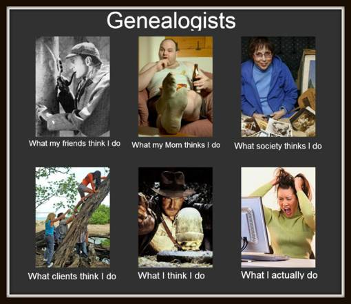 Genealogy - what my friends think I do