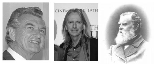 L-R: Bob Hawke, Scott Hicks, Walter Watson Hughes