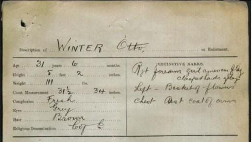 Otto Winter - military record description 550