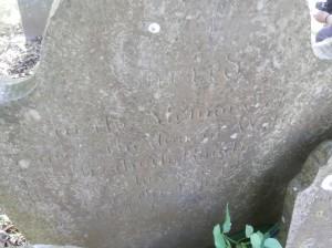 George Randle's headstone at Berry Pomeroy church, Devon