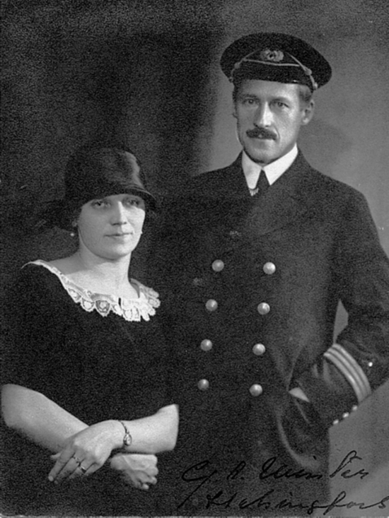 Gustaf 'Gosta' Winter here with a lady who is possibly his wife Astrid Österlund, c.1926-1930