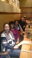 01 Tessa Keough, Alona Tester, Fran Kitto, and Nancy at the Commonwealth Dinner RootsTech 2015