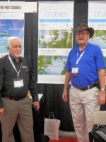 Alan Phillips and Dick Eastman at the Unlock the Past Cruises stand at RootsTech 2015