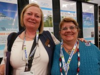 Claire Smith Burns from Canada with good friend Helen Smith from Australia