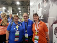 Helen Smith, Jen Baldwin from findmypast and Alona Tester
