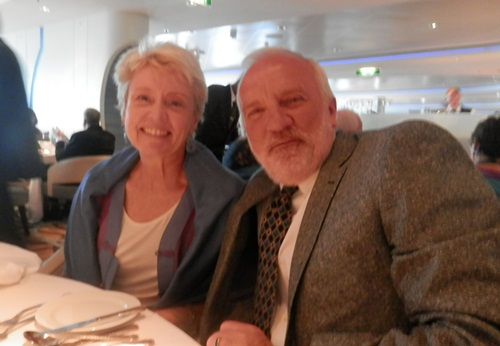 Paul Milner and his wife Carol Becker at the formal dinner