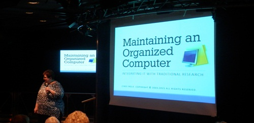 Cyndi discussed how (and why) we should have an organised computer