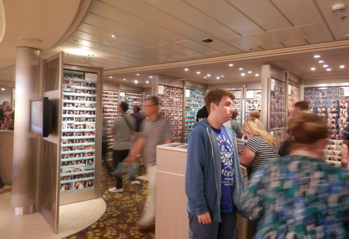 then it was a quick visit to the photo shop onboard to check out some photos we had taken
