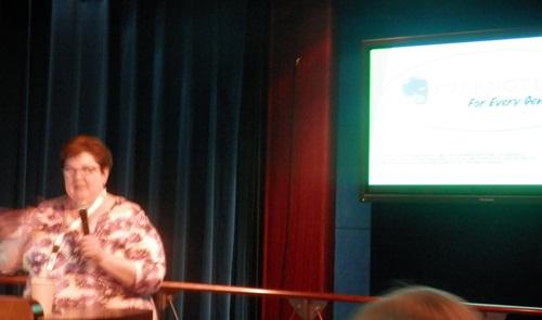 Cyndi speaking on Evernote