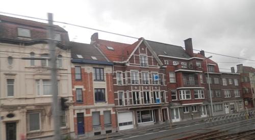 taking to bus into Blankenberge, Belgium