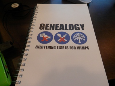 for every genealogy conference I need a good genealogy notebook, and this is the one I chose for this cruise