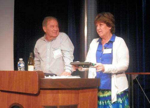 Gordon and Karen Nuttall demoing the Flip-Pal mobile scanner