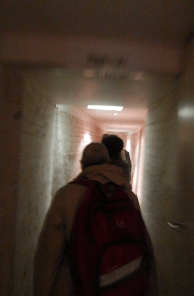 heading down the tunnels