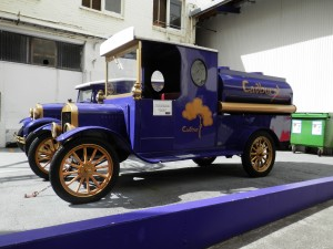the original Cadbury milk truck from the early 1900s