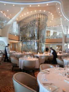 the formal dining room on the Celebrity Solstice