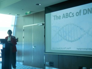 Judy G. Russell speaking about the ABCs of DNA
