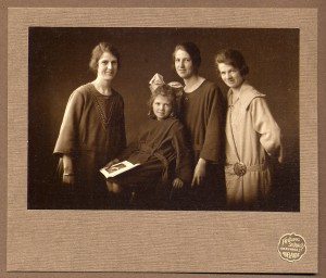 Evelyn with her three older sisters, Anne, May and Dorothy